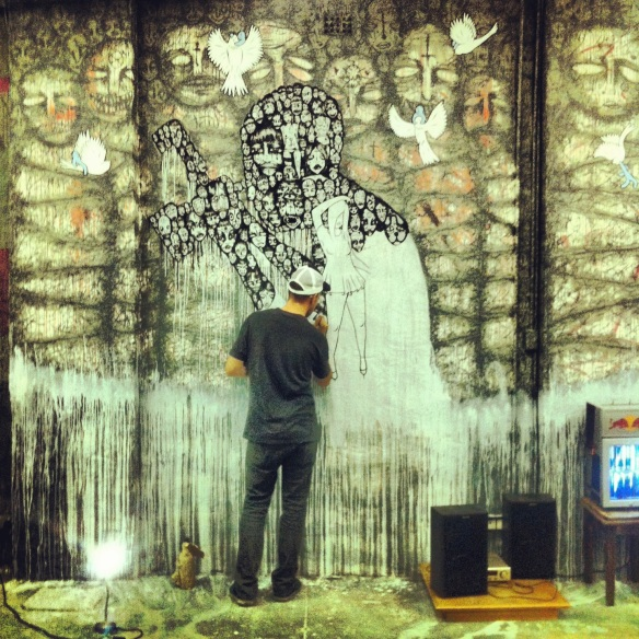 New Mural for Hideous Beauty