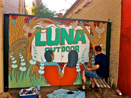 Luna Palace Cinema Mural